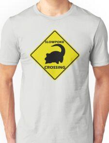Slowpoke Crossing Sign Unisex T-Shirt