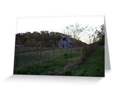 an old wooden barn Greeting Card