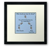 What should you have for dinner? Framed Print