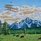 Chasing an Eagle by JerryWayne Anderson