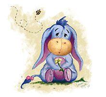 Winnie the Pooh - Baby Eeyore Photographic Print