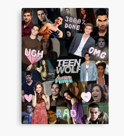 Teen Wolf Collage 2  Canvas Print