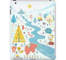 Papa Bear Goes Camping - Red iPad Case/Skin