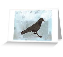Raven in the Snow Greeting Card