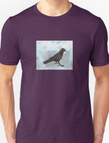 Raven in the Snow Unisex T-Shirt