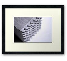 Black and White spikes Framed Print
