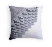 Black and White spikes Throw Pillow