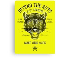 DEFEND THE ARTS PANTHER Canvas Print