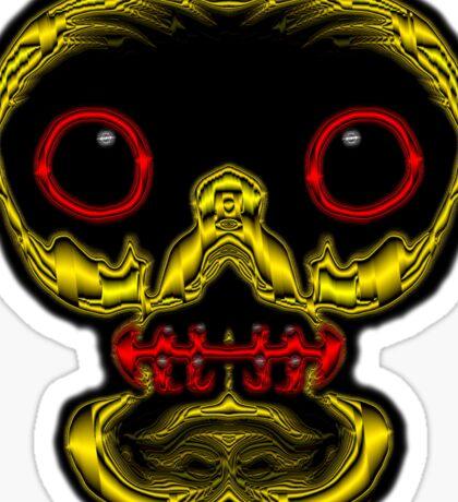 Look me in the eyes! - skull tee Sticker