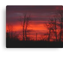 Sask.Sunrise #6 Canvas Print