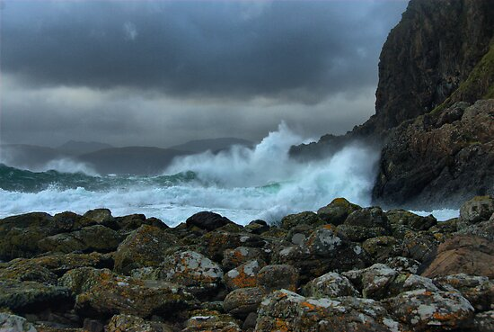 Easdale in a Storm by Alisdair Gurney