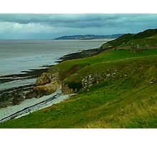 Looking towards Clevedon from Middle Hope, near Kewstoke Photographic Print