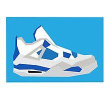 AJ4 - Minimal Sneaker Photographic Print