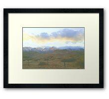 LP Peak cold clouds Framed Print