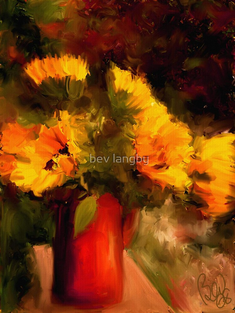 Sunflower Harvest /Homage to Van Gogh by bev langby