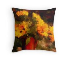Sunflower Harvest /Homage to Van Gogh Throw Pillow