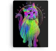 Psychic Psychedelic Cat Metal Print