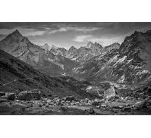 View Above Dughla B&W Photographic Print