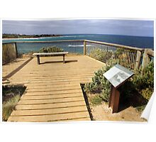 Rocky Point Lookout at Torquay Poster