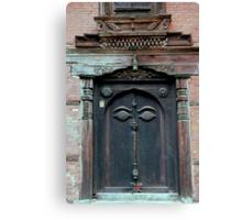 Buddha's Eyes on Nepalese Door Canvas Print