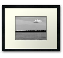 A Single Cloud Black and White Framed Print