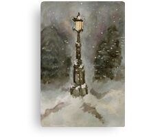 Lamp Post in Blue Canvas Print