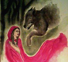 Red Riding Hood and the Wolf by Jen Hallbrown
