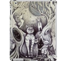 they danced under the light of the moon cat art iPad Case/Skin