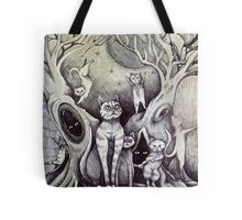 they danced under the light of the moon cat art Tote Bag