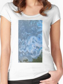 Dynamic Earth Ocean Currents Women's Fitted Scoop T-Shirt
