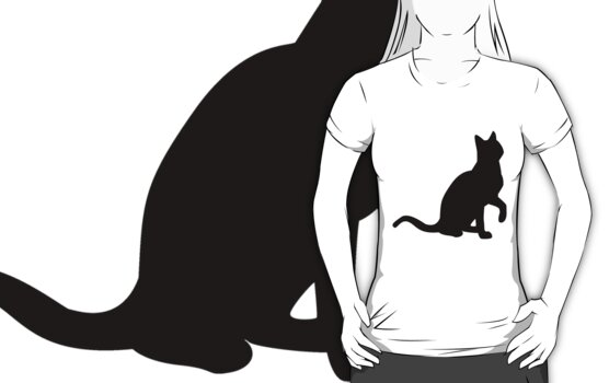 cat tee by teegs