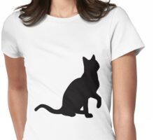 cat tee Womens Fitted T-Shirt