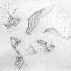 "Early pencil work - ""Break Out"" by louisegreen"