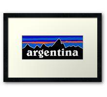 Argentina - logo mashup Framed Print