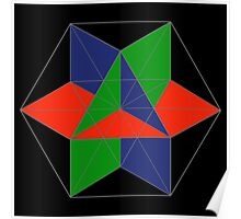 3D cube-octahedron Poster