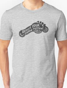 Reduce Your Carbon Footprint – Ride a Motorcycle. Unisex T-Shirt