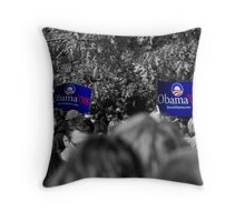 Obama in blue Throw Pillow