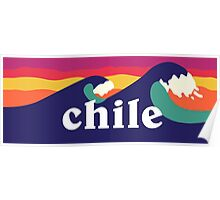Chile Surf Waves Poster