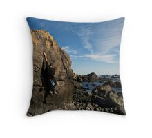 Crescent City Bouldering Throw Pillow