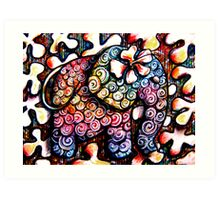 Tattoo Elephant  Art Print