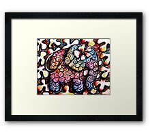 Tattoo Elephant  Framed Print