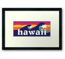 Hawaiian waves Framed Print