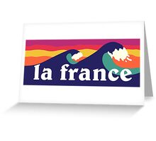 La France surfing waves Greeting Card