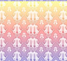 Fox Skull Pattern Rainbow by BrittanyPurcell