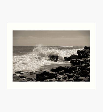 Wave Stop - BW Art Print