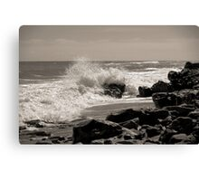 Wave Stop - BW Canvas Print