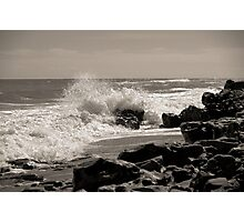 Wave Stop - BW Photographic Print