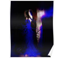 Stripper in Blue Poster