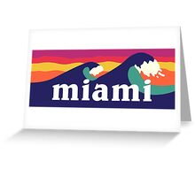 Miami Waves Greeting Card