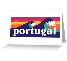 Portugal Surfing Waves Greeting Card